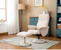 Venice Fabric Swivel Recliner Chair