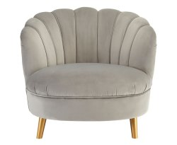 Hacca Grey Velvet Accent Chair