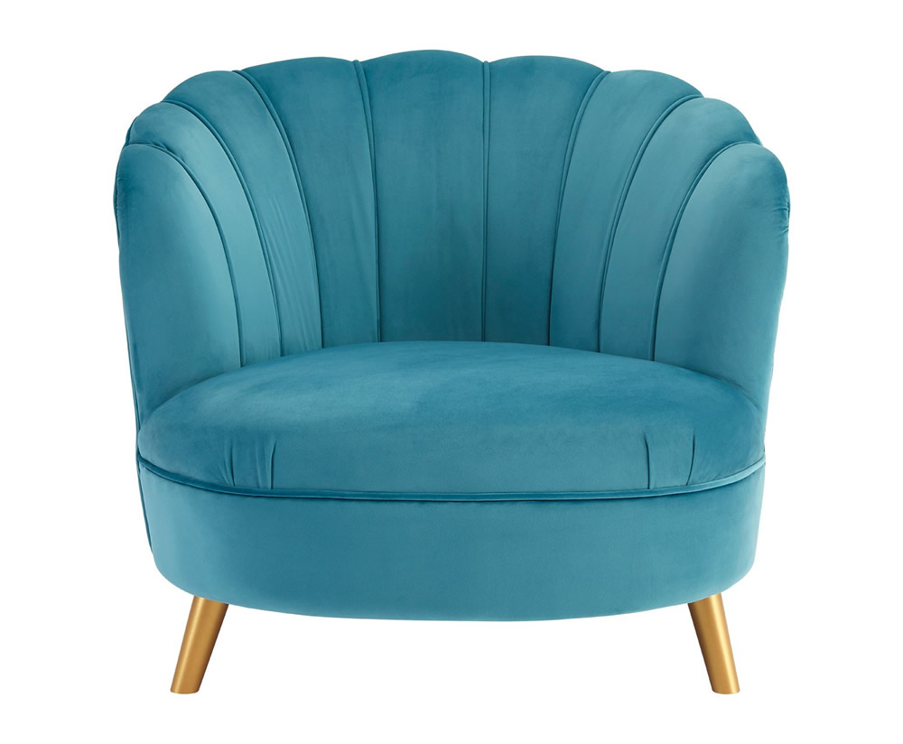 Hacca Blue Velvet Accent Chair Just Armchairs