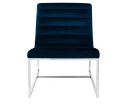 Keni Midnight Velvet Accent Chair