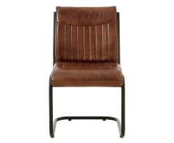 Tucay Brown Buffalo Leather Dining Chair