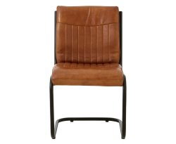 Tucay Light Brown Buffalo Leather Dining Chair