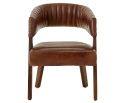 Voby Brown Buffalo Leather Accent Chair