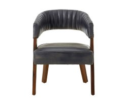 Voby Blue Buffalo Leather Accent Chair