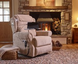 Ultima Sandstone Fabric Rise & Recline Chair
