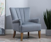 Flynn Grey Pleated Armchair