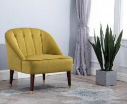 Forest Mustard Accent Chair