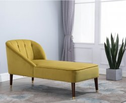 Forest Mustard Chaise Lounge