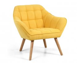 Anderson Yellow Upholstered Accent Chair