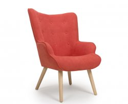 Bodie Orange Upholstered Accent Chair