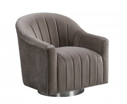 Harriet Cappuccino Velvet Swivel Tub Chair