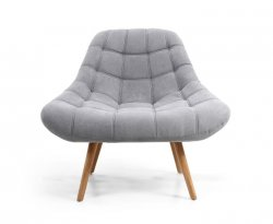 Norna Light Grey Upholstered Armchair