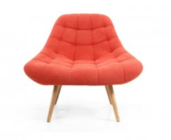 Norna Orange Upholstered Armchair