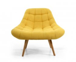 Norna Yellow Upholstered Armchair
