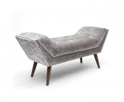 Burberry Silver Crushed Velvet Chaise Longue