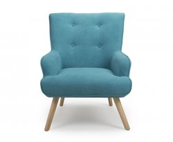 Calvin Blue Upholstered Accent Chair