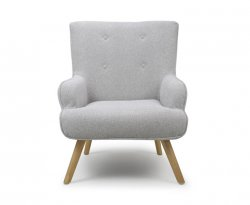 Calvin Grey Upholstered Accent Chair