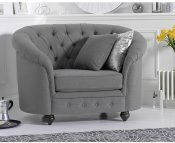 Carly Grey Linen Club Chair