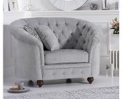 Carly Grey Plush Club Chair