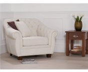 Lauren Ivory Linen Arm Chair