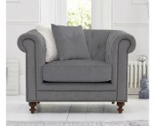 Monti Grey Linen Arm Chair