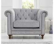 Monti Grey Plush Arm Chair