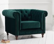 Monti Green Velvet Arm Chair
