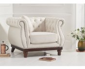 Harvey Ivory Linen Club Chair