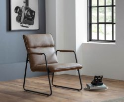 Lexington Brown Faux Leather Accent Chair