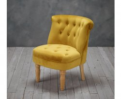 Rutherford Mustard Velvet Bedroom Chair