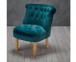 Rutherford Teal Velvet Bedroom Chair
