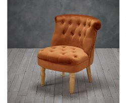 Rutherford Orange Velvet Bedroom Chair