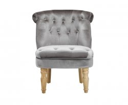 Rutherford Silver Velvet Bedroom Chair