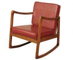 Norma Cognac Faux Leather Rocking Chair *Special Offer*