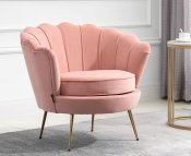 Eric Coral Fabric Upholstered Arm Chair