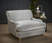 Camilla Plush Grey Upholstered Arm Chair HIDDEN 30-03-21